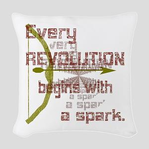 Revolution Spark Bow Arrow Woven Throw Pillow