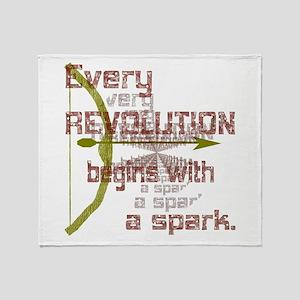 Revolution Spark Bow Arrow Throw Blanket