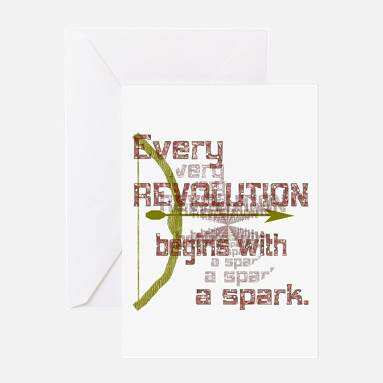 Revolution Spark Bow Arrow Greeting Card
