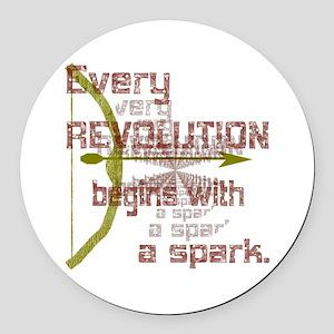 Revolution Spark Bow Arrow Round Car Magnet