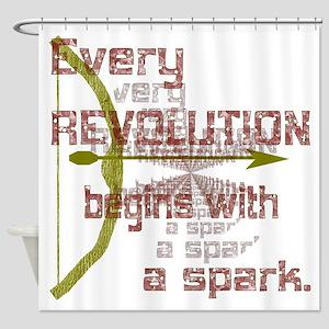 Revolution Spark Bow Arrow Shower Curtain