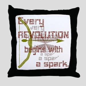 Revolution Spark Bow Arrow Throw Pillow