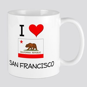 I Love San Francisco California Mugs