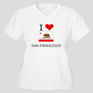 I Love San Francisco California Plus Size T-Shirt