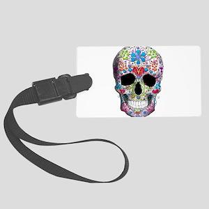 Decorated Skull Luggage Tag