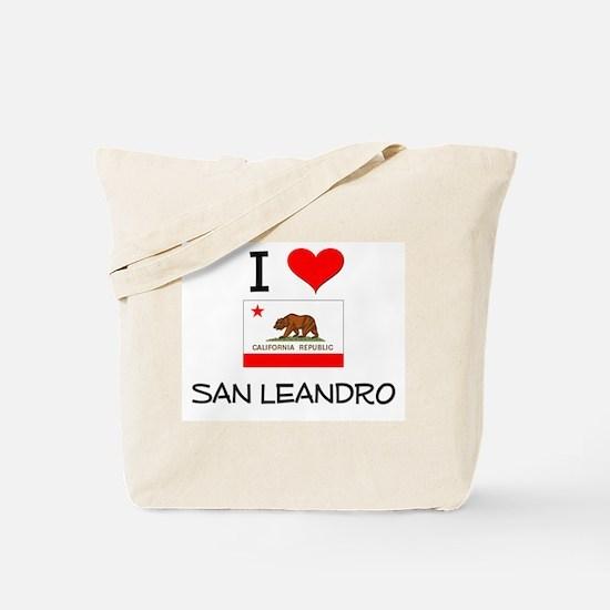 I Love San Leandro California Tote Bag