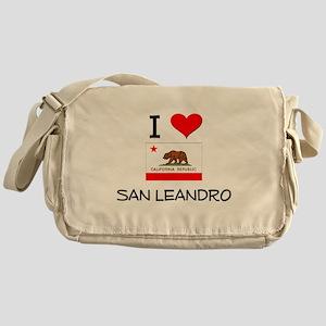 I Love San Leandro California Messenger Bag