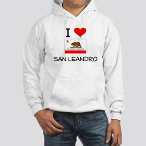 I Love San Leandro California Hoodie