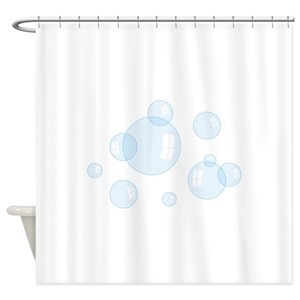 Soap Bubbles Shower Curtains