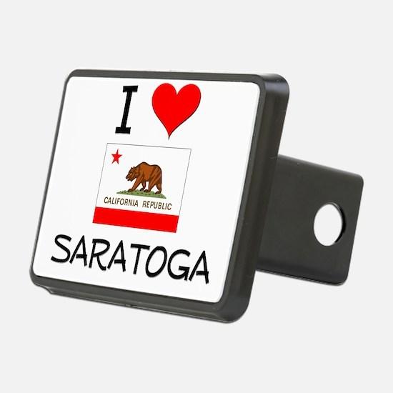 I Love Saratoga California Hitch Cover