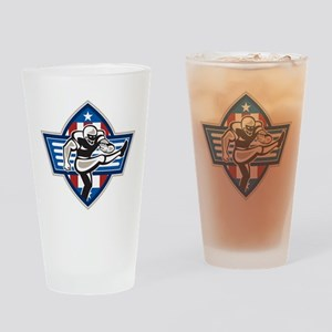 American Football Placekicker Drinking Glass