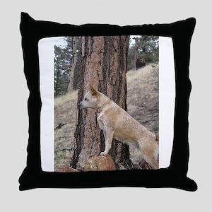 Red Heeler Ready Throw Pillow
