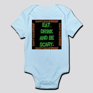 Eat Drink And Be Scary Baby Light Bodysuit