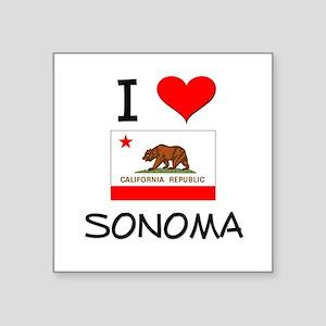 I Love Sonoma California Sticker