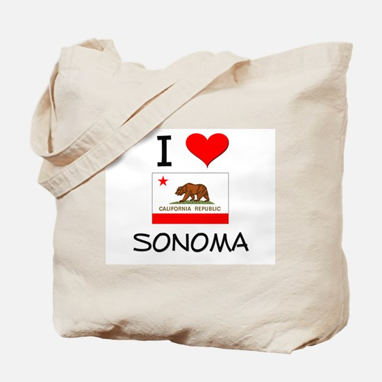I Love Sonoma California Tote Bag
