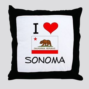 I Love Sonoma California Throw Pillow