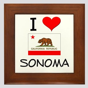 I Love Sonoma California Framed Tile
