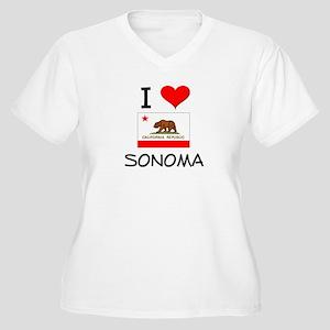 I Love Sonoma California Plus Size T-Shirt