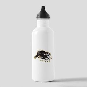Honey Badger Mascot Jumping Water Bottle