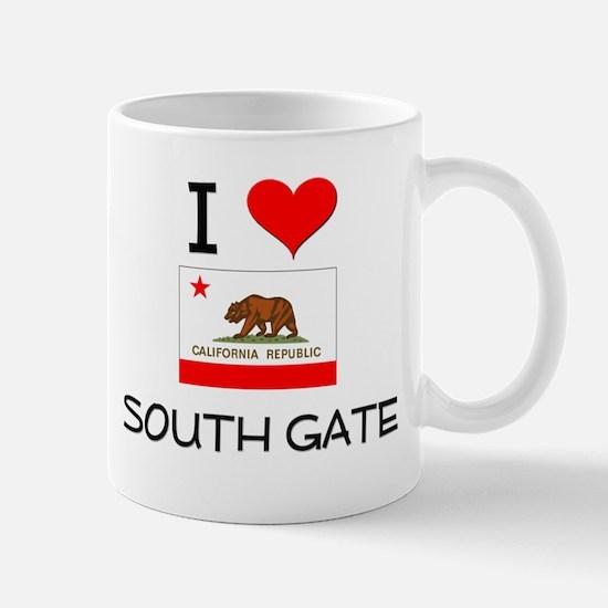 I Love South Gate California Mugs
