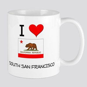 I Love South San Francisco California Mugs