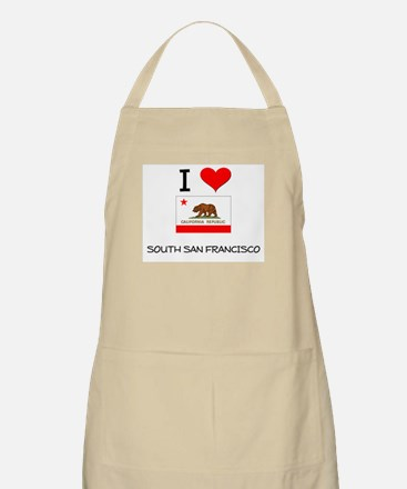I Love South San Francisco California Apron