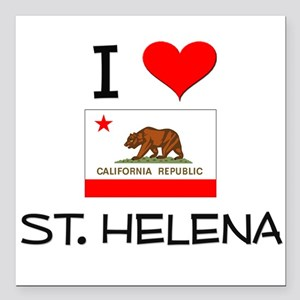 I Love St. Helena California Square Car Magnet 3""