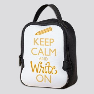Keep Calm and Write On Neoprene Lunch Bag