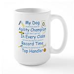 Agility Champion Large Mug