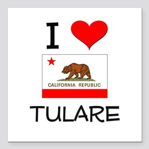 "I Love Tulare California Square Car Magnet 3"" x 3"""