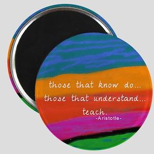 teacher aristotle Quote DUVET Magnets