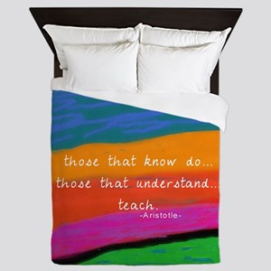teacher aristotle Quote DUVET Queen Duvet