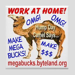 MegaBucks Camel Tile Coaster