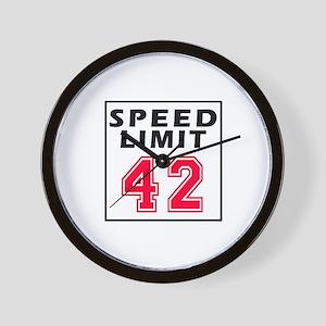 Speed Limit 42 Wall Clock