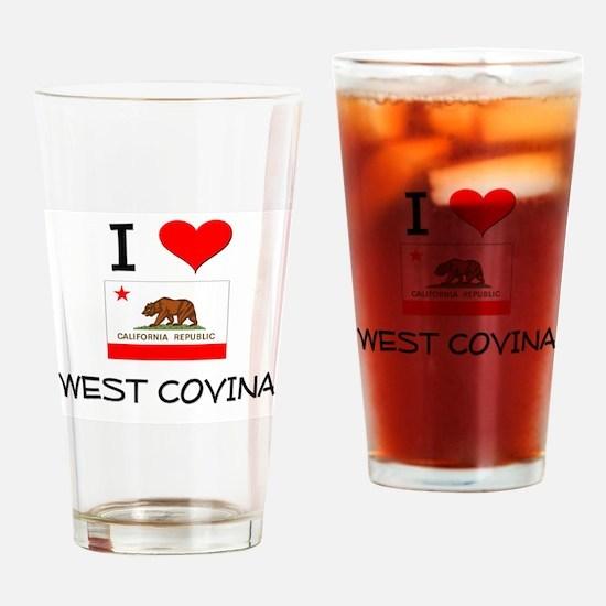 I Love West Covina California Drinking Glass