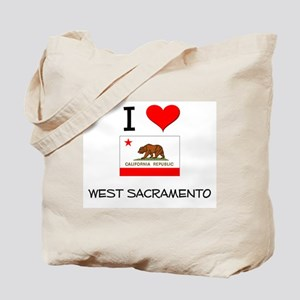 I Love West Sacramento California Tote Bag