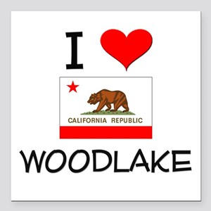 "I Love Woodlake California Square Car Magnet 3"" x"