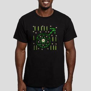 Male Witch Warlock Men's Fitted T-Shirt (dark)