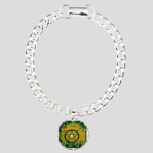 Male Witch Warlock Charm Bracelet, One Charm