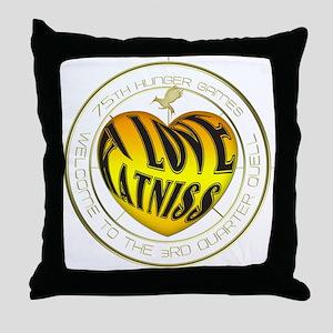 I Love Katniss Heart Throw Pillow