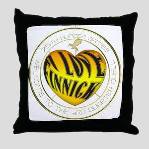 I Love Finnick Heart Throw Pillow