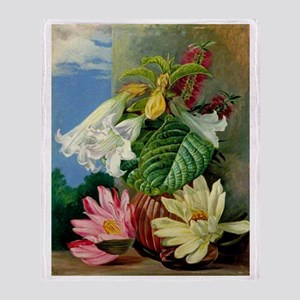 Flowers Cultivated in Botanic Garden Throw Blanket
