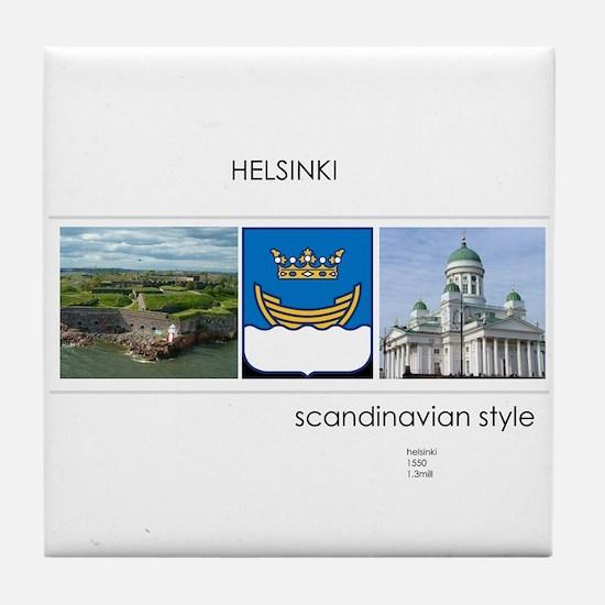 Helsinki souvenirs Tile Coaster