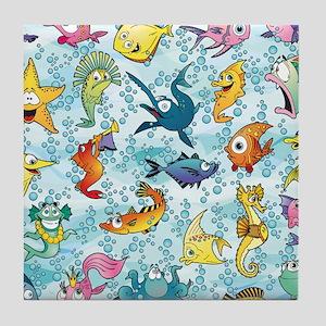 Fun Fish Tile Coaster