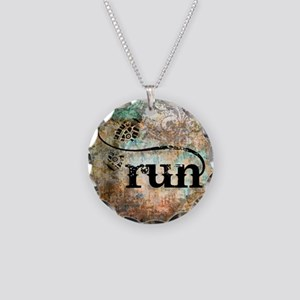 Run by Vetro Designs Necklace Circle Charm