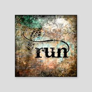 """Run by Vetro Designs Square Sticker 3"""" x 3"""""""