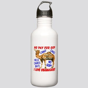 No Pay for GOP Stainless Water Bottle 1.0L