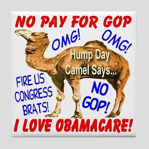 No Pay for GOP Tile Coaster