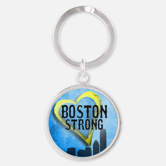 Boston Strong Round Keychain
