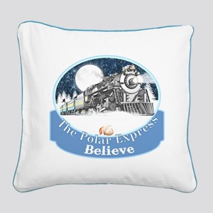 The Polar Express Square Canvas Pillow